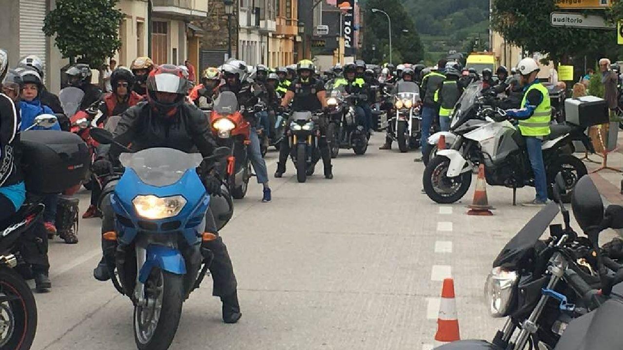 Un aspecto de la concentración de motos organizada en Quiroga en el 2018 por el motoclub A Curuxa