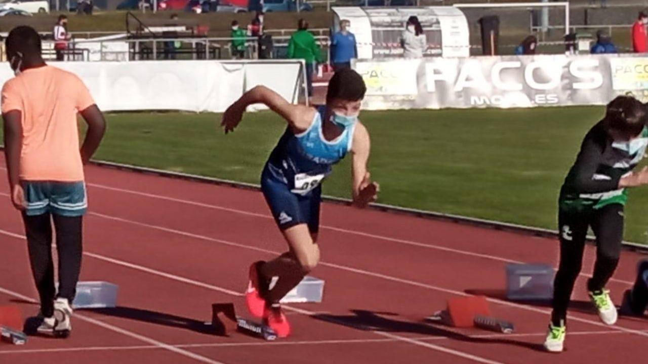 Brais García, durante la carrera disputada en Noia el sábado