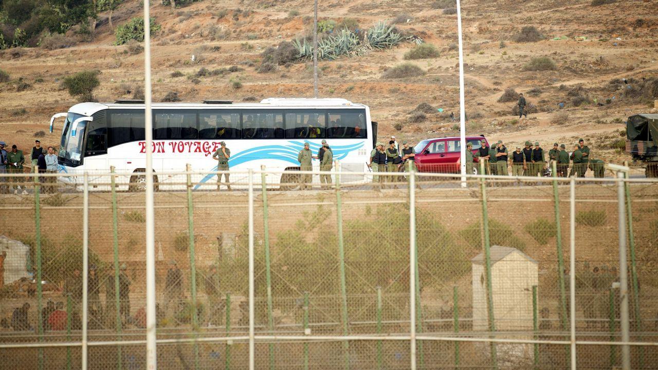 Vista de la valla perimetral que separa Melilla de Marruecos
