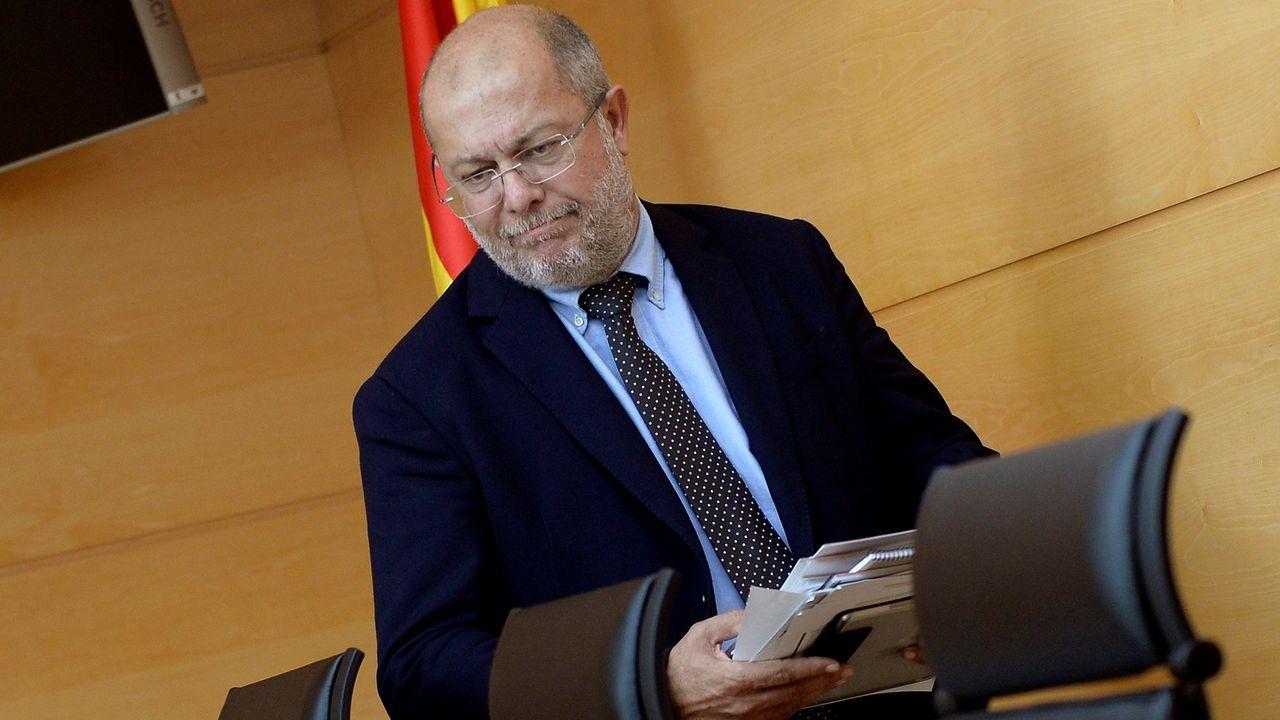 Igea, durante una rueda de prensa en la sede del gobierno castellanoleonés