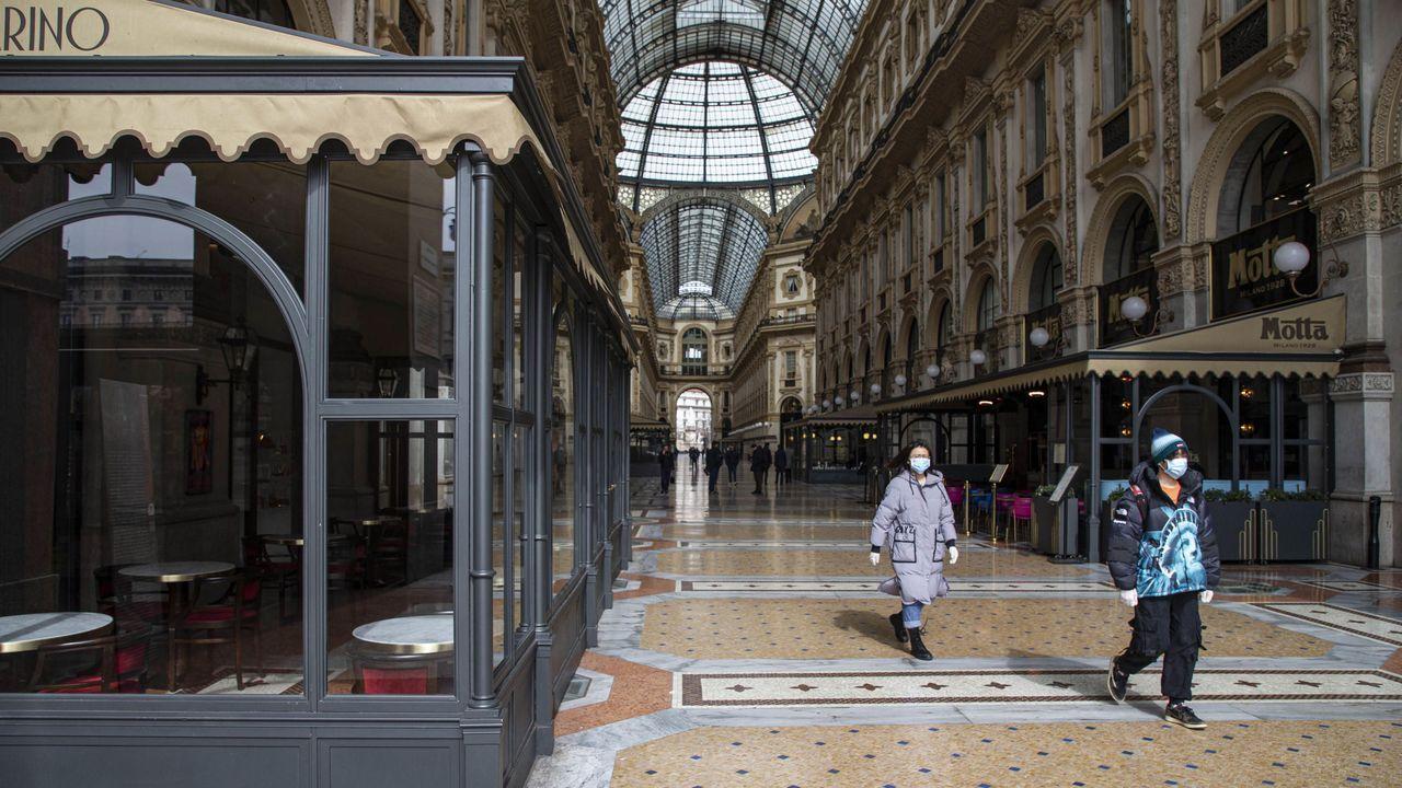 Galeria Vittorio Emmanuele II en Milán, centro comercial más antiguo en activo de toda Italia.