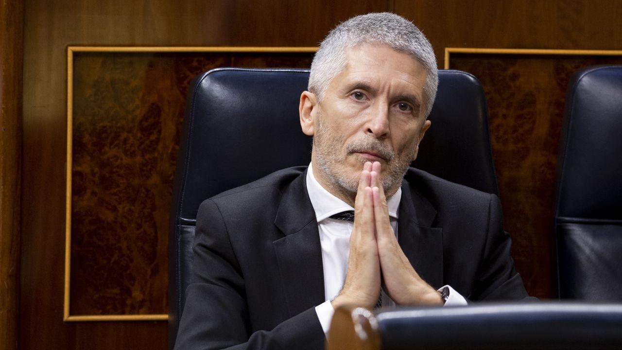 Sánchez comparece tras plantear a los presidentes autonómicos una nueva prórroga.Grande Marlaska, durante el pleno de sesión de control al Gobierno del miércoles