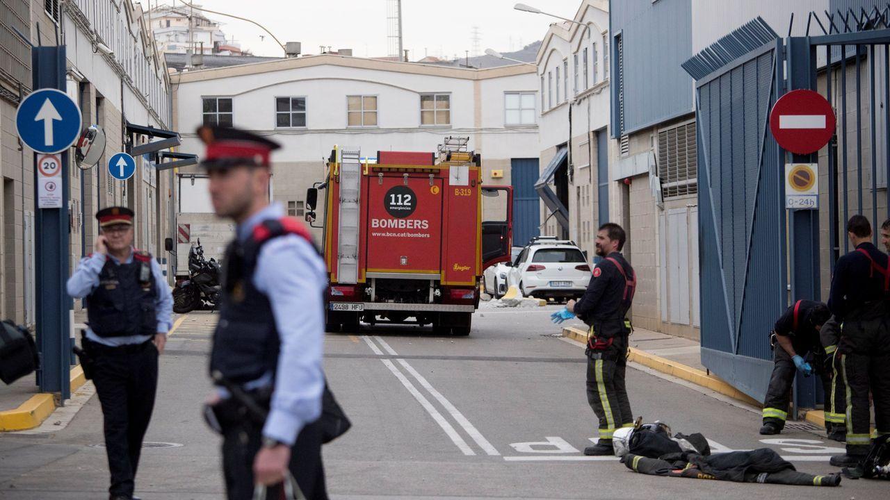 Exteriores de la empresa química situada en el polígono barcelonés de Montsolís, donde se produjo el accidente