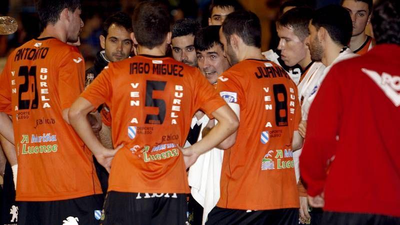 Los santiagueses celebraron una clara victoria en los cuartos de final de la Copa Xunta.