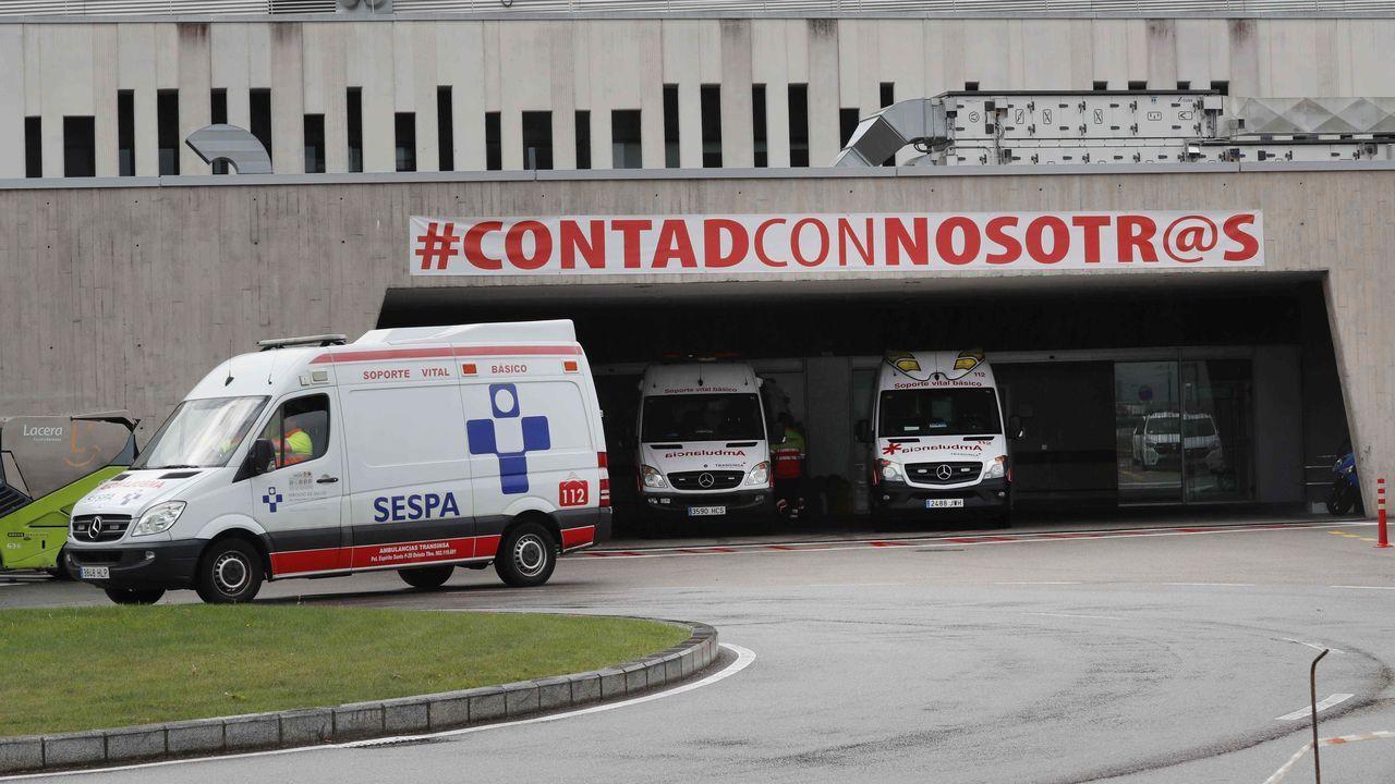 La zona de Urgencias del Hospital Universitario Central de Asturias (HUCA)