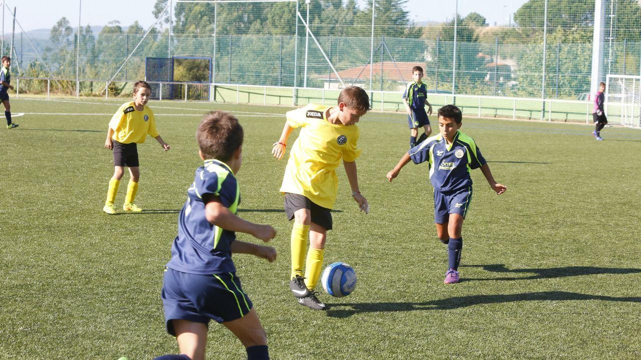 Imagen de archivo de un torneo de fútbol alevín en Pontevedra