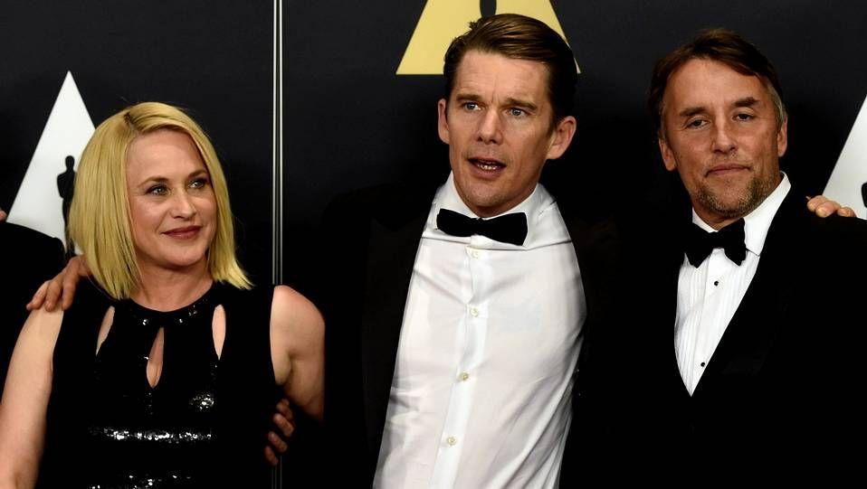 hw_portadah.Patricia Arquette, Ethan Hawke y el director Richard Linklater, en una imagen de archivo.