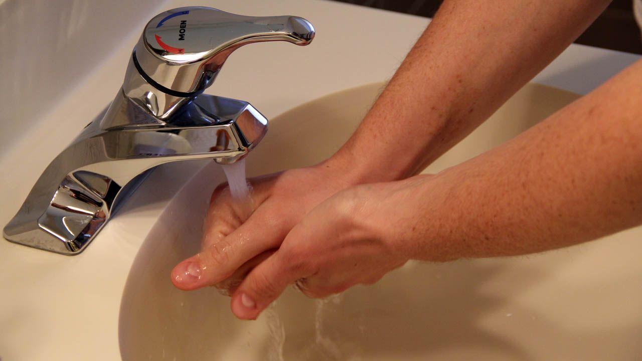lavado manos, limpieza, coronavirus, grifo, agua