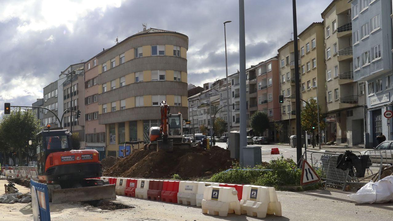 El corte por las obras hace que ya no se pueda acceder a Concheiros desde la avenida de Lugo