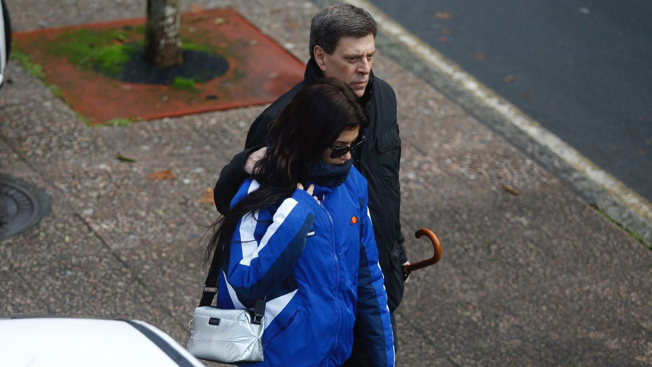 Juan Carlos Quer y su hija Valeria llegando a la tercera jornada del juicio