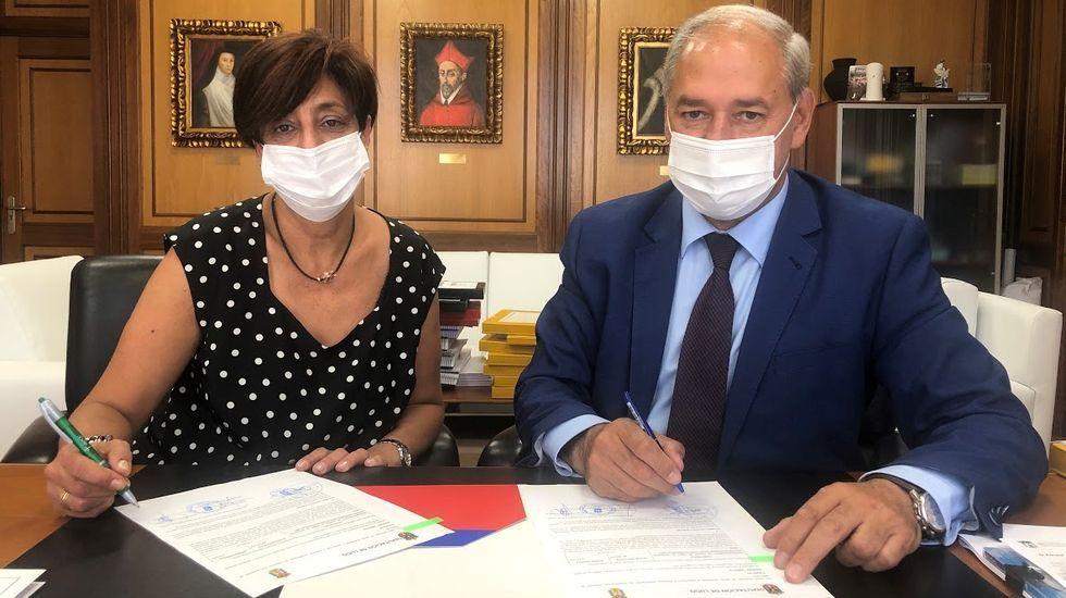 Tomé firmó, como presidente de la Diputación, el convenio por el que se financiarán las obras