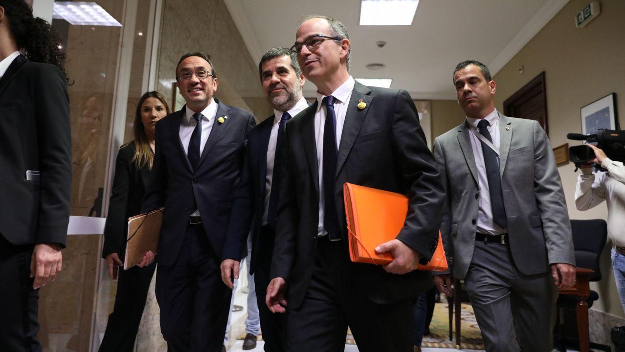 Josep Rull, Jordi Sánchez y Jordi Turull