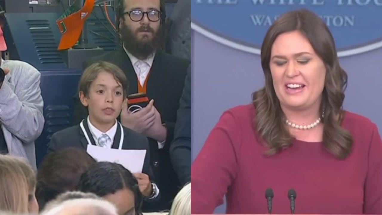 La pregunta de un niño hace llorar a la secretaria de prensa de Trump.El secretario de Estado de EE.UU., Mike Pompeo, durante la cena con la delegación norcoreana