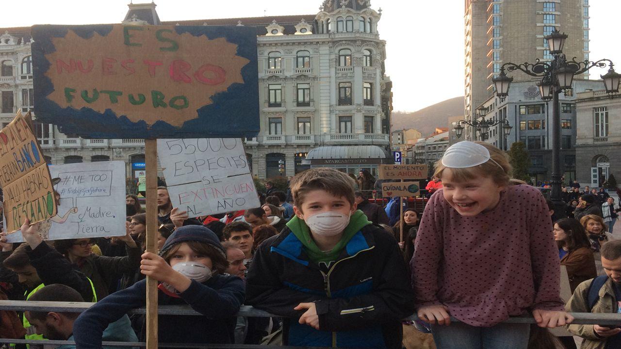 La «fiesta verde» clama en Oviedo contra el cambio climático