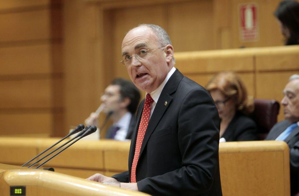 Jiménez Morán en la que hasta ahora ha sido su única intervención en el Senado.