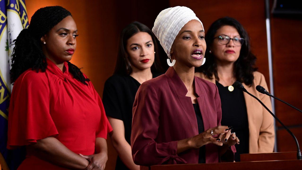 Las cuatro congresistas demócratas a las que Trump dedicó insultos racistas por sus orígenes