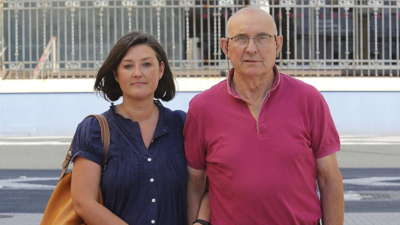 Juan Manuel Fidalgo, con su hija Begoña