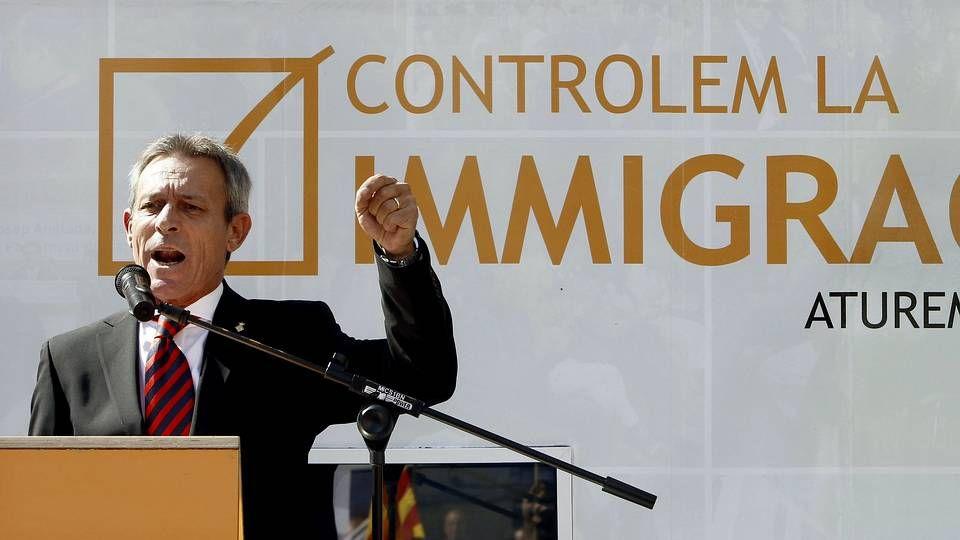 foto votos.Imagen facilitada por la Policía Nacional de la detención en Zaragoza de César Román, el empresario conocido como el  rey del cachopo
