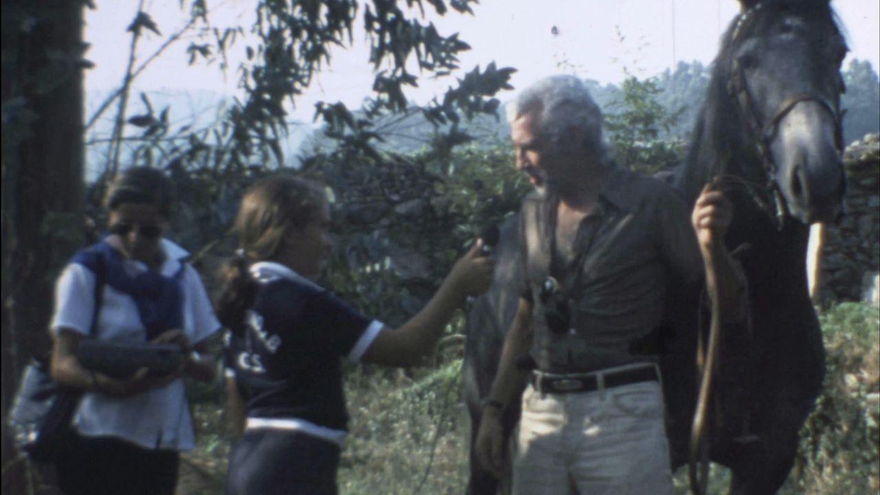 Supervisión en los colegios antes del inicio de curso.Detalle de un fotograma del filme documental «A media voz», en una escena rodada en la hermosa desembocadura del río Anllóns