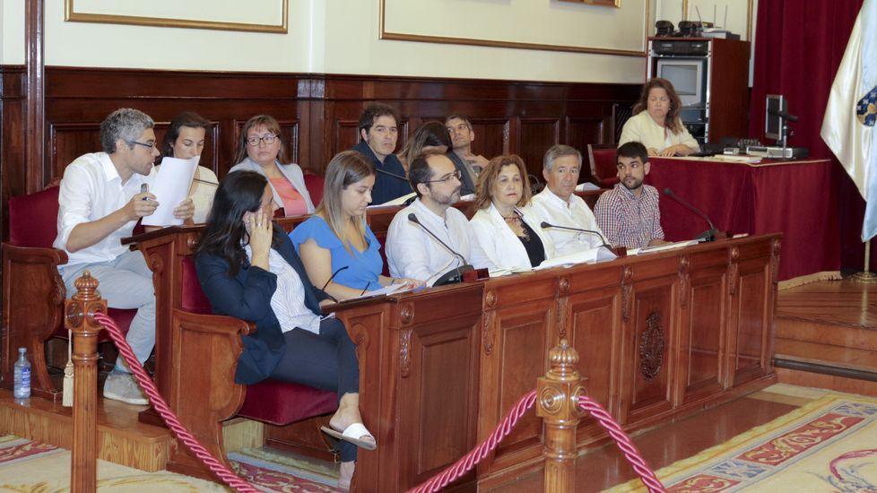 Cartel advirtiendo a los propietarios de una finca con maleza que la limpien, en A Coruña
