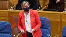 La conselleira Rosa Quintana, en una comparecencia en el Parlamento gallego