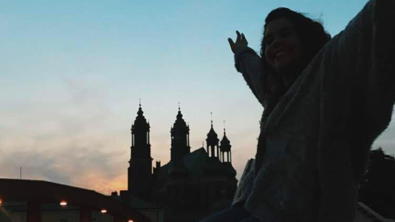 La joven Ana Fidalgo, en su destino Erasmus