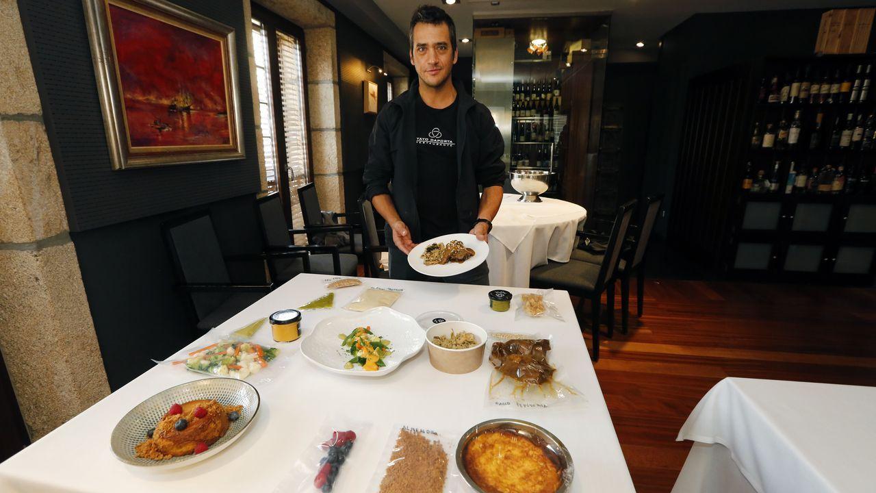 Vilamarín, donde empezó todo para los tres estrella Michelin ourensanos.Guillermo Pérez, chef de Mamá Peixe, y Miguel Liboreiro, de O Tobo do Lobo