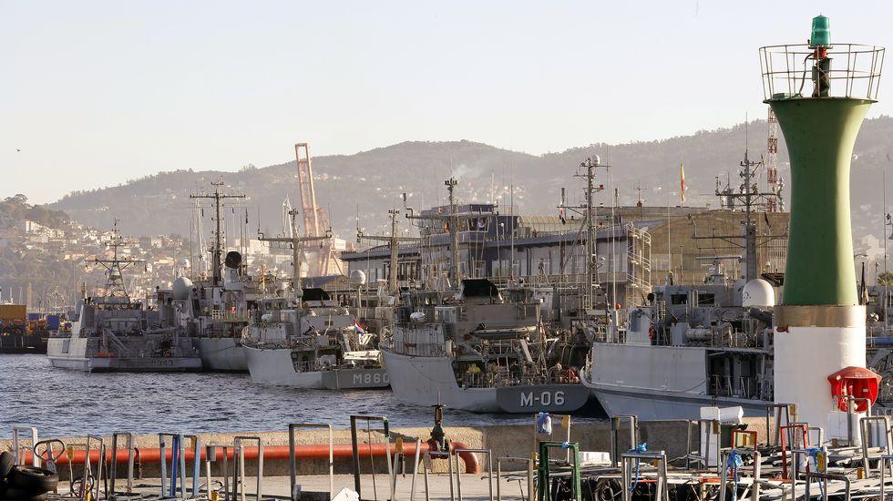 Las tropas de la OTAN descansan en Vigo.Llegada de la F-101 a Ferrol tras un despliegue con la OTAN el pasado año
