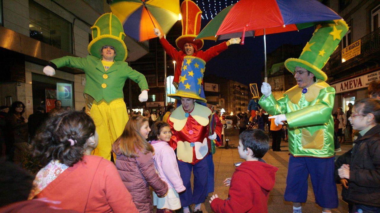 Animación de calle en el Calvario en la Navidad del 2006