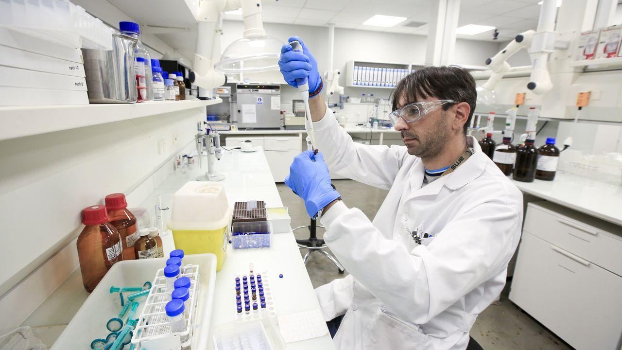Sala de análisis químicos de Amslab