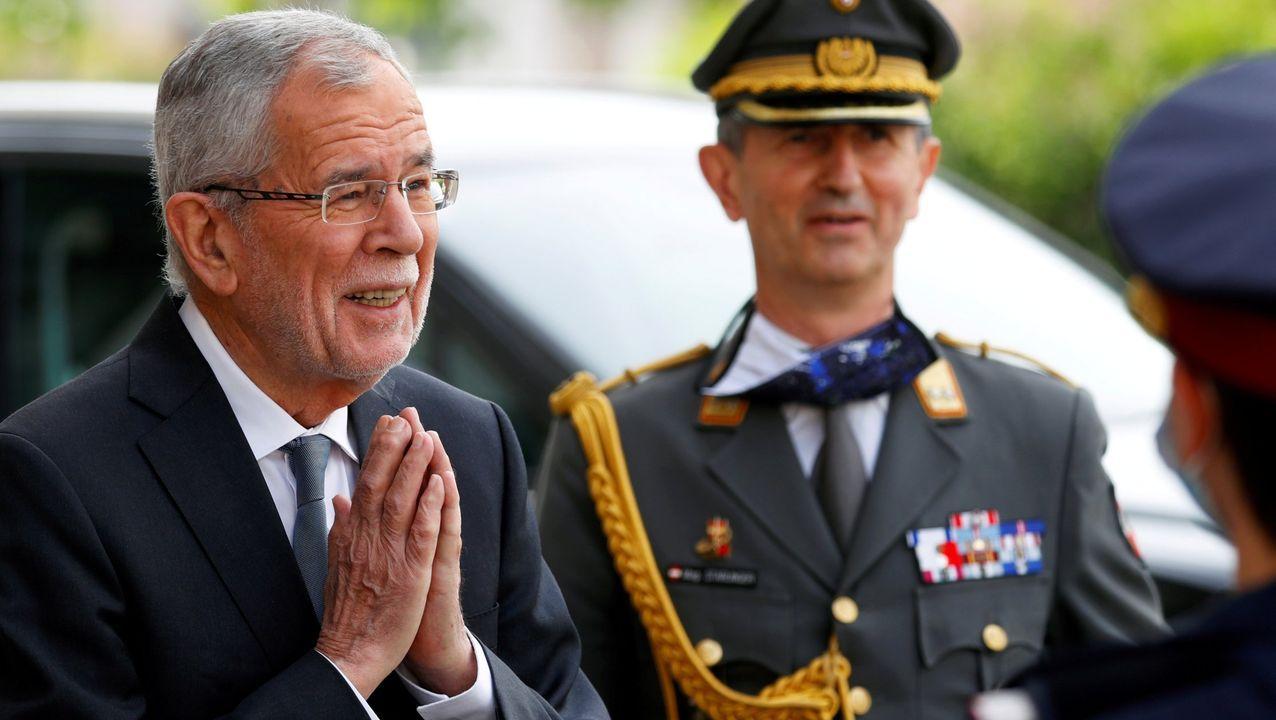 El presidente de Austria, Alexander Van der Bellen, fue identificado por la policía en un restaurante del centro de Viena