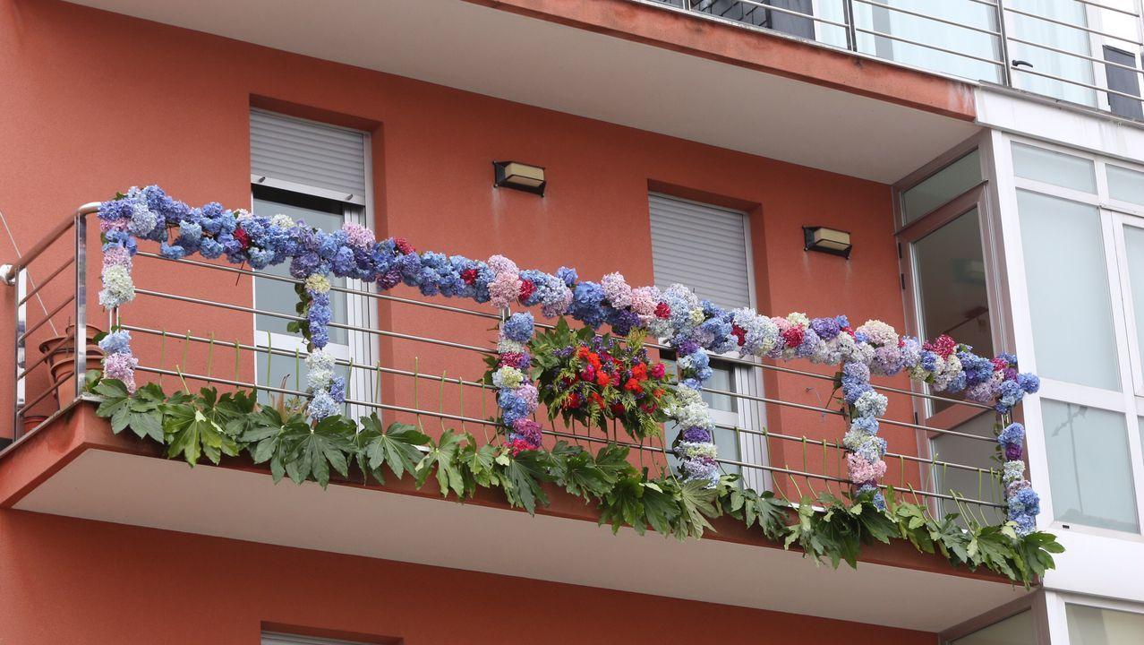 Las hortensias fueron el elemento común en muchas de las fachadas de la villa