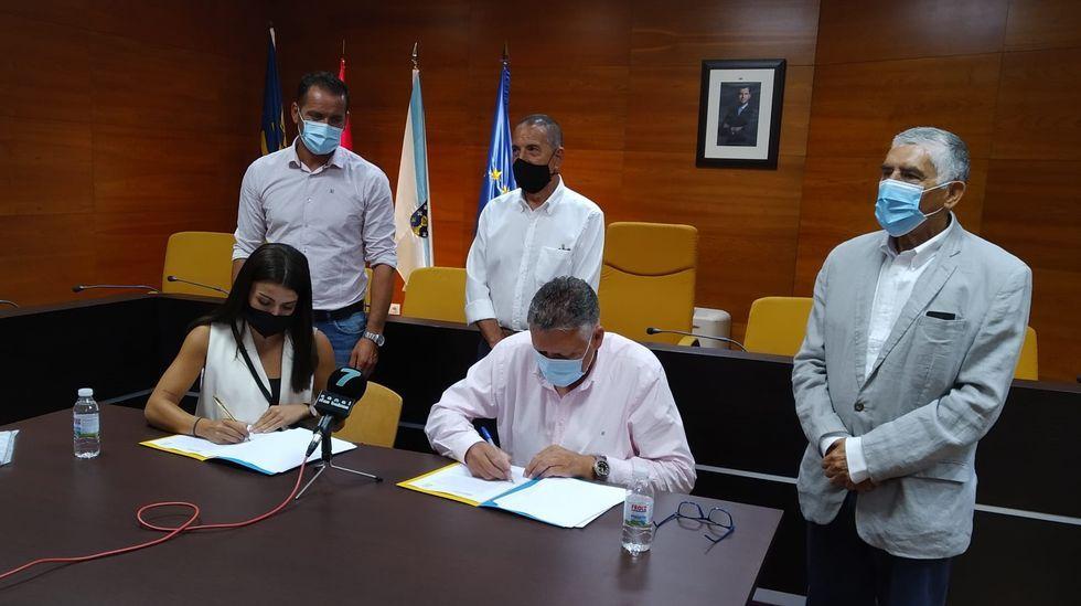 El concejal Goyo Revenga, expulsado de Ciudadanos, este miércoles en la sala de prensa del Concello de Pontevedra