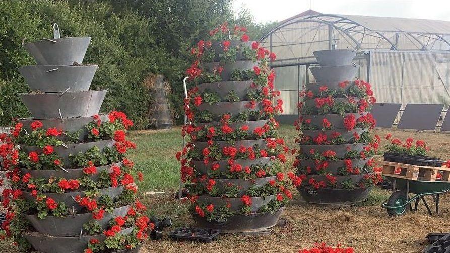 Jardineras que instalará el Concello de Ourense