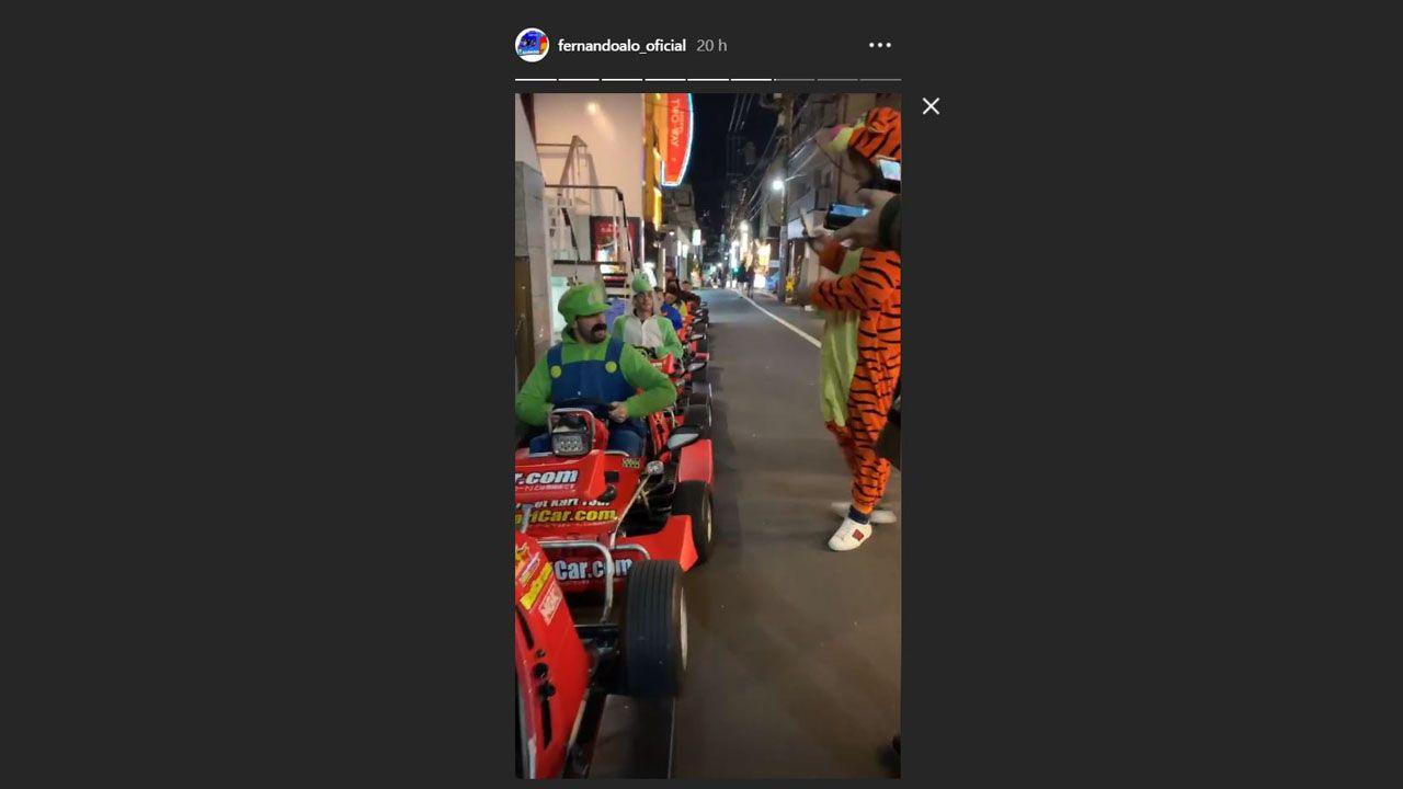 Instastories de Alonso en los karts
