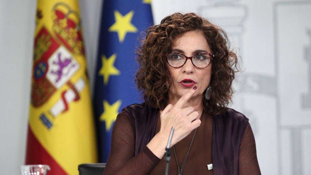 La ministra de Hacienda, María Jesús Montero, en la rueda de prensa del Consejo de Ministros