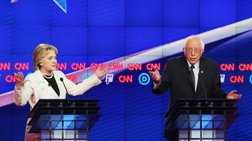 Hillary Clinton y Beni Sanders