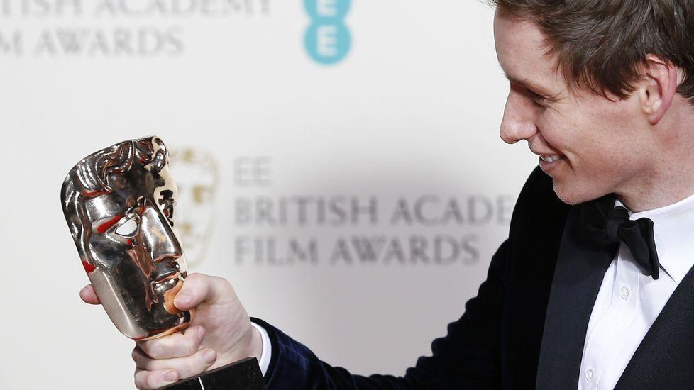 La alfombra roja de los Bafta.Kate Winslet, con Michael Fassbender.