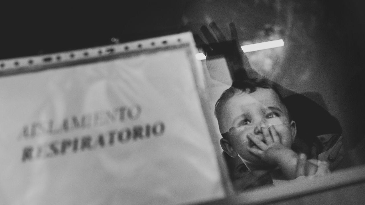 La fotografía ganadora en la categoría de reportaje, tomada en el hospital de Santiago