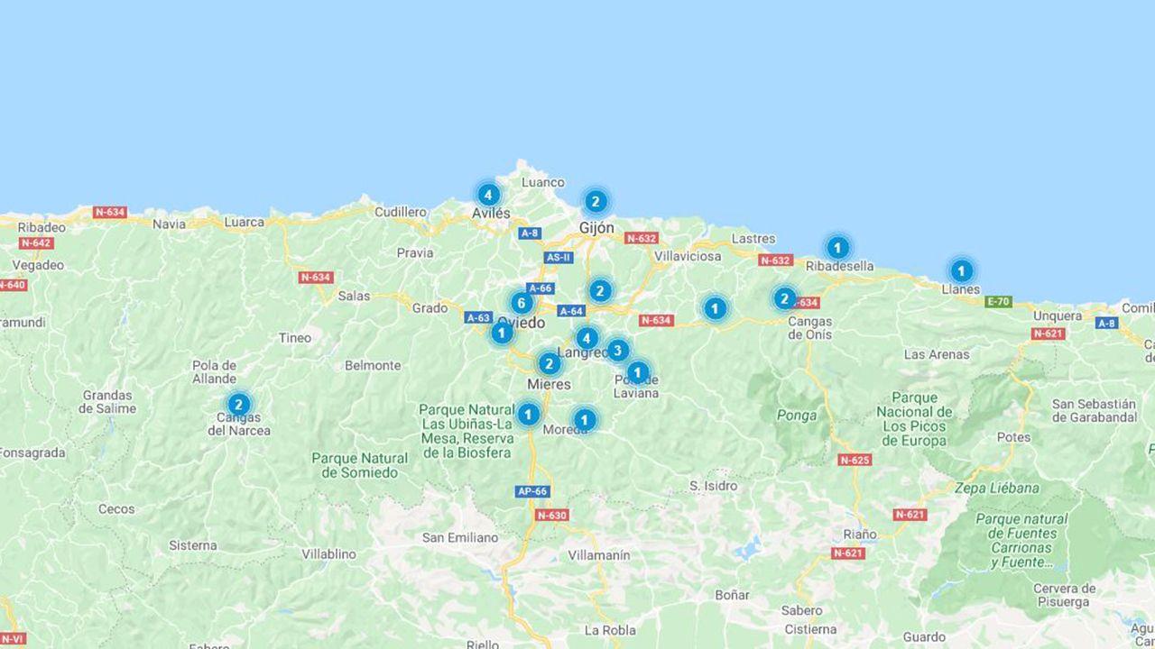Distribución de los inmuebles en venta de Liberbank en su campaña de descuentos de invierno