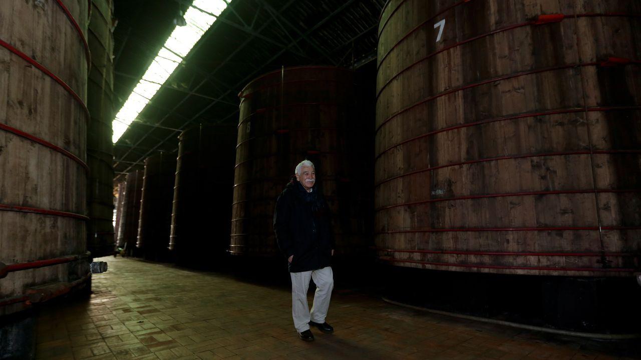 ¡Así se vivió el Voz Natura del colegio sonense de Campanario!.Juan Pascual supervisa las instalaciones donde se almacena el vinagre en grandes barricas