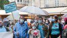 Colectivos depersonas sordas se manifestaron este sábado en la Praza de Santa María de Lugo