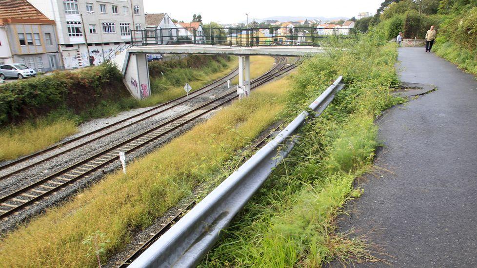 Obras en la variante de Pajares.Soterramiento del ferrocarril en Sama de Langreo