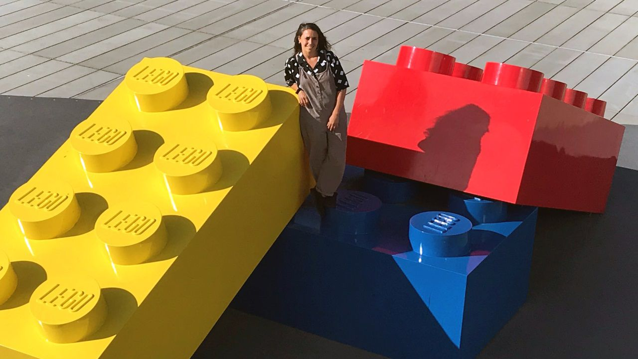 María Salgado na Lego House, na cidade danesa de Billund.