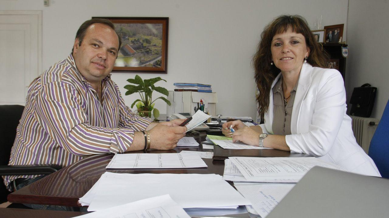 Melón. «A miña muller é alcaldesa só porque eu non podía», llegó a decir Alberto Pardellas después de que su esposa, Cristina Francisco, le tomase el relevo por estar inhabilitado.