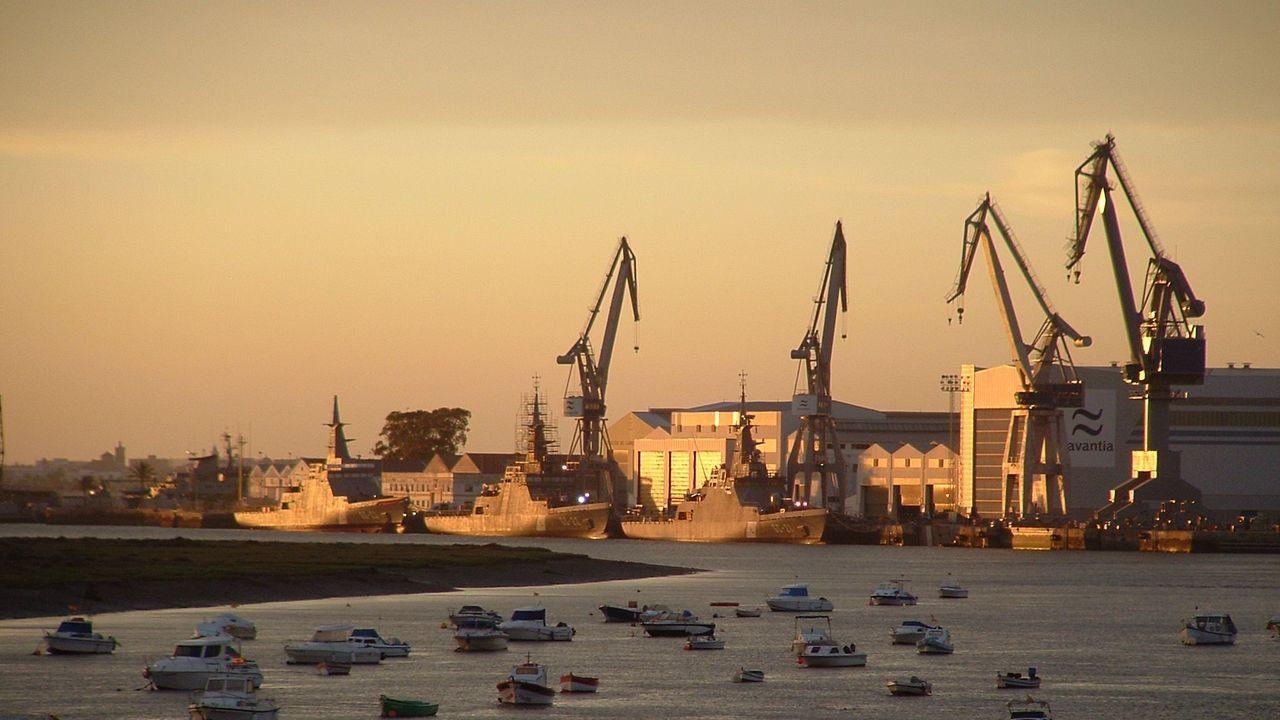 Astillero de Navantia San Fernando (Cádiz), en foto de archivo