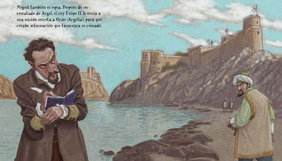 Ilustración de David Pintor para una edición italiana sobre El Quijote
