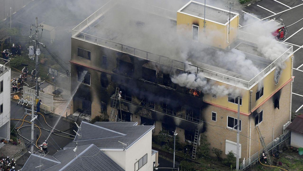 Al menos 24 muertos en el incendio de un estudio de animación de Kioto