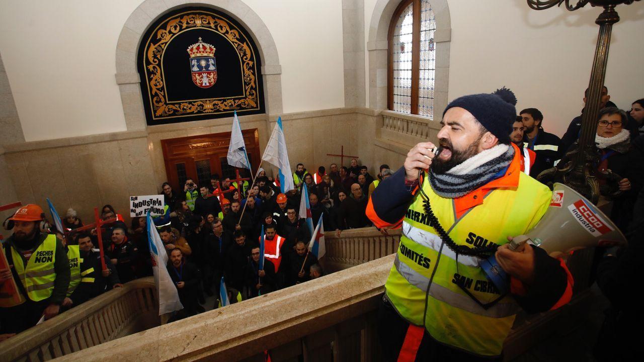 La manifestación de Alcoa por Lugo, en imágenes