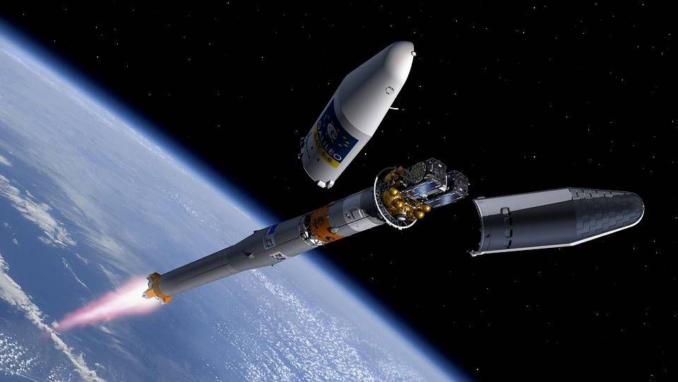 Representación del lanzamiento de Galileo